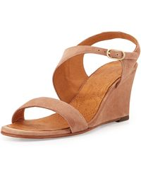 Chie Mihara - Anatour Suede Wedge Sandal - Lyst