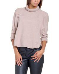 Patrizia Pepe Silk Cashmere Sweater - Lyst