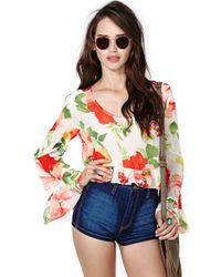 Nasty Gal Rose Vibes Crop Top - Lyst