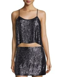 MLV - Ozzy Sleeveless Embellished Crop Top - Lyst