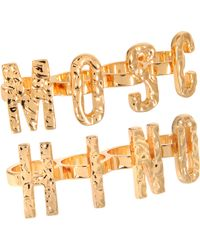 Moschino - Lettered Ring Set - Lyst