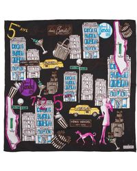 Henri Bendel Bendel Loves New York Silk Scarf - Lyst