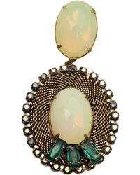 Nicole Romano - 'Lacerta' Oval Clip-On Earrings - Lyst