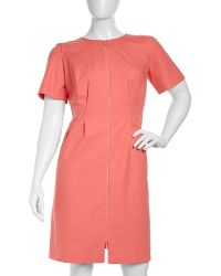 Lafayette 148 New York Sophia Shortsleeve Stretchknit Dress - Lyst