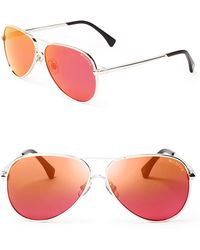 Wildfox Airfox Ii Deluxe Mirrored Aviator Sunglasses - Lyst