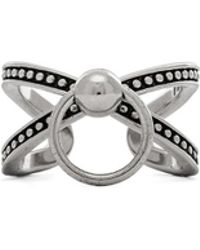 Luv Aj Ring Of Fire Cross Ring - Lyst