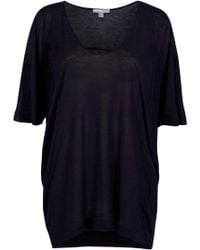 James Perse Oversized V Neck Tee - Lyst