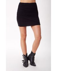Splendid Ruched Fitted Skirt - Lyst