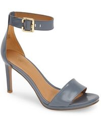 Nine West 'Meant To Be Minimal' Leather Ankle Strap Sandal - Lyst