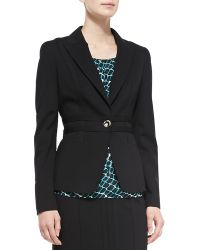ESCADA Seamed Ponte One-Button Blazer - Lyst