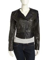 Raison D'etre Vegan-Leather Moto Jacket - Lyst