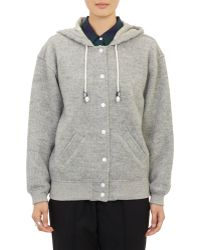 Band of Outsiders - Hooded Varsity Jacket - Lyst