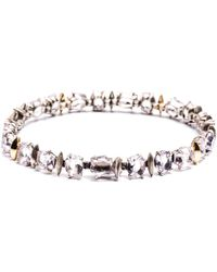 Alexis Bittar Cool Heather Marquis Small Tennis Bracelet With 18K Gold Marquis silver - Lyst