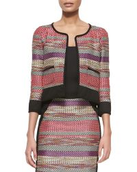 Yoana Baraschi - Striped Cotton-Blend Jacket - Lyst