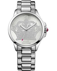 Juicy Couture Womens Jetsetter Stainless Steel Bracelet Watch 38mm - Lyst