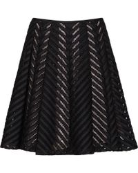 Reiss Anra Mesh-Detail Mini Skirt black - Lyst