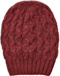 Jil Sander Navy - Wool-alpaca Blend Knit Hat - Red - Lyst