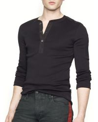 Ralph Lauren Black Label Moto Henley - Slim Fit - Lyst