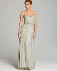 Adrianna Papell Gown Beaded Blouson - Lyst