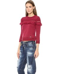 DSquared2 Knit Sweater Corallo - Lyst