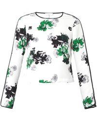 A.L.C. Winter Floralprint Silk Top - Lyst