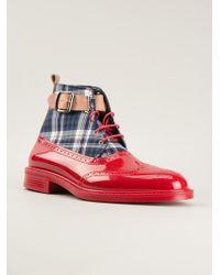 Vivienne Westwood - Tartan Print Lace-Up Boots - Lyst