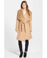 Diane von Furstenberg | 'harlow' Drape Collar Wool Blend Wrap Coat | Lyst