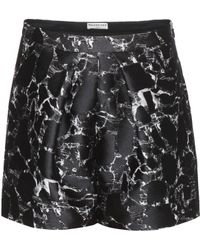 Balenciaga Brocade Silk-Cotton Shorts black - Lyst