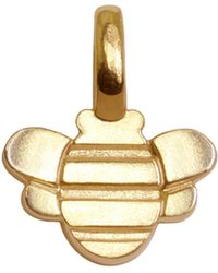 Alex Woo 14kt Yellow Gold Bee Charm - Lyst