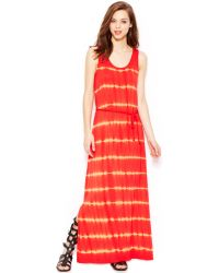 Kensie Tiedye Maxi Dress - Lyst