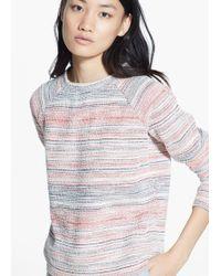 Mango Textured Striped Sweatshirt - Lyst