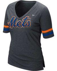 Nike Women'S Short-Sleeve New York Mets V-Neck T-Shirt - Lyst