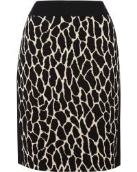Gerry Weber - Animal Knitted Skirt - Lyst