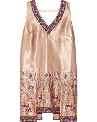 Anna Sui Embroidered Satin Top - Lyst