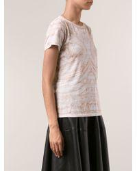 Alexander McQueen Mirror Print T-shirt - Lyst