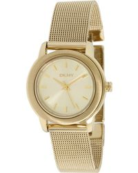 DKNY Threehand Steel Mesh Watch - Lyst