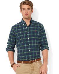 Polo Ralph Lauren Plaid Oxford Shirt - Lyst