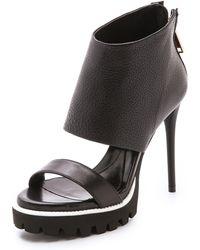 McQ by Alexander McQueen Georgia Zip Sandals - Darkest Black - Lyst
