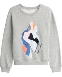 Carven Molleton Sweatshirt - Lyst
