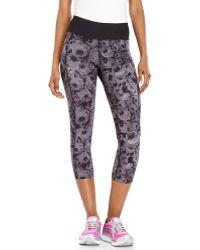Betsey Johnson Floral Athletic Capri Pants - Lyst