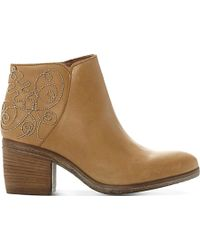 Dune | Patty Embellished Leather Ankle Boots | Lyst