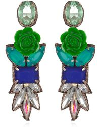 Suzanna Dai Fiji Drop Earrings Cobaltgreen - Lyst