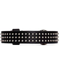 Alexander McQueen Skull Nappa Leather Bracelet - Lyst