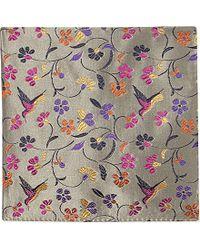 Duchamp Hummingbird-Print Pocket Square - For Men - Lyst