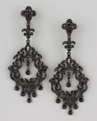 Lyst jose maria barrera chandelier earrings in black jose maria barrera chandelier earrings lyst aloadofball Gallery