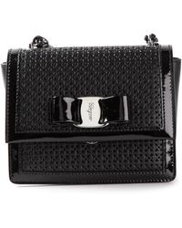 Ferragamo Perforated Shoulder Bag - Lyst