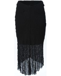 Lost & Found - Sheer Layered Skirt - Lyst