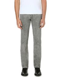 Sandro Paint Slim-fit Straight Jeans - Lyst