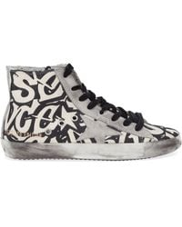 Golden Goose Deluxe Brand Graffiti Print Hi-Top Sneakers - Lyst