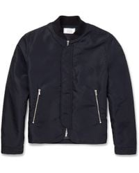 Officine Generale Nylon Bomber Jacket - Lyst